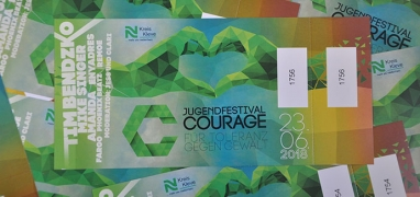 Ticket: Jugendfestival Courage 2018 am Schloss Moyland (23.06.2018)