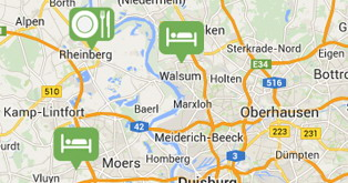Find all the local information you need on the general map presented by Niederrhein.de. Simply choose the relevant categories and explore the Niederrhein according to your requirements!